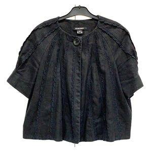 Ellen Tracy Black Short Sleeve Jacket